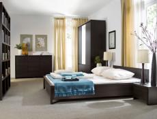 Modern Wall Cabinet Storage Display Shelf Dark Brown - Kaspian (S128-SFW/140-WE-KPL01)
