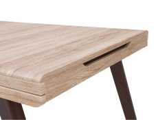 Modern Extendable Dining Table Oak finish - Elpasso Ultra