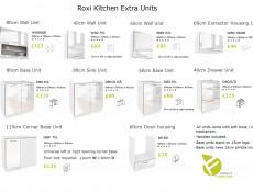 White High Gloss Kitchen Cabinet 60cm Cupboard Base Unit - Roxi