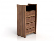 Venom - Tall Narrow Chest of Drawers Black Gloss