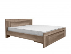 Modern Super King Size Double Bed Frame Wooden Slats and Headboard Drawer Oak - Anticca