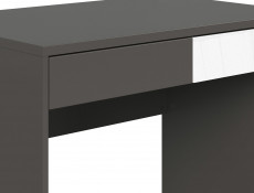 Grey Small Study Desk with 2 Drawer Modern Office Furniture - Graphic