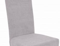 Skandynawskie Drewniane Tapicerowane Krzesło do Jadalni Szary/Biały - Holten