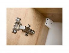 Modern Bathroom Vanity Mirrored Cabinet Set Wall 60cm Oak Riviera - Remik
