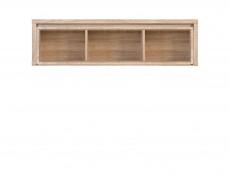 Modern Wall Glass Cabinet Sonoma Oak Display Unit - Kaspian (S128-SFW1W/140-DSO/DSO-KPL01)