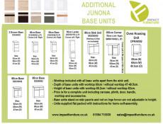 Modern Free Standing Kitchen Cabinet 800 Base Cupboard 2-Door Unit 80cm White Gloss/Oak - Junona (K24-D2D/80/82-BI/BIP/DCRZ-KPL01)