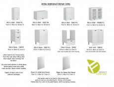 Free Standing White High Gloss Kitchen Cabinet 3 Drawer 400 Base Unit 40cm Shaker Style - Antila