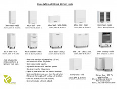White / Light Grey Kitchen Wall Cabinet with Door 60cm 600 Cupboard Unit - Paula (STO-PAULA-W60-P/L-GR/WHITE-KP01)