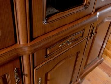 Natalia - Glass-Fronted Dresser Cabinet Top Unit