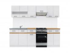 Modern White Display Shelf 40cm Mounted Under Kitchen Cabinet - Junona