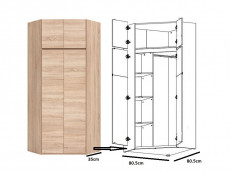 Corner Wardrobe - Academica
