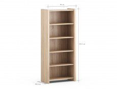 Bookcase Shelf Cabinet in Oak finish - Venom Mix