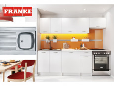 Complete Kitchen Set of 7 Cabinets Units Flat Pack in White Matt Finish with Franke Sink – Nela 2