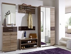 Homeline - Single Mirror Door Wardrobe