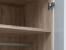 Two Door Wardrobe - Byron (S220-SZF2D/20/10-BIP/DSAJ-KPL01)