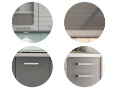 Light Grey Kitchen Wall Cabinet with Door 40cm Cupboard Unit - Paula (STO-PAULA-W40-P/L-GR/DOVE-KP01)
