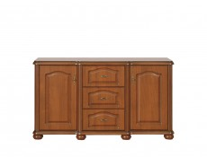 Wide Sideboard Dresser Cabinet Classic Style Traditional Living Room Furniture Cherry Finish - Natalia (S41-KOM150/3s-WIP-KPL04)