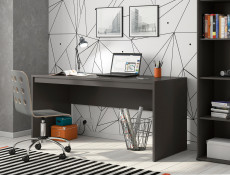 Modern Large Office Home Study Desk 160cm Grey Matt  - Graphic (S343-BIU/160-SZW)