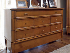 Vintage inspired Large Sideboard Dresser Chest Cherry Wood Veneer - Orland