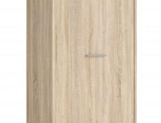1 Door Tall Shelf Cabinet Storage Hallway Bedroom Wenge, White or Sonoma Oak Finish- Nepo