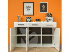Wide Sideboard Dresser Cabinet White Gloss - Fever