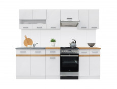 ​Kitchen Display Shelf 100cm Under Wall Units - White - Junona (K24-POL/100-BI-1-KOR)