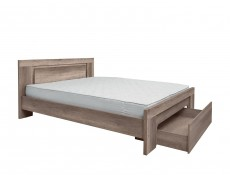 King Size Bed Frame with Storage Drawer - Anticca