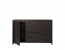 Modern Large Sideboard Dresser Cabinet Storage Drawers Dark Wood Wenge - Kaspian (S128-KOM2D4S-WE/WE-KPL01)
