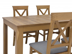 Traditional Light Oak Dining Room Rectangular Extending Dining Table 160 - 200cm - Bergen