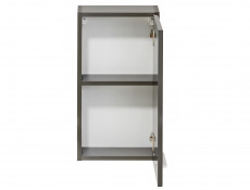 Modern Wall Hung Bathroom Cabinet Storage Unit Grey Matt/Grey Gloss - Twist (TWIST_830_GREY)