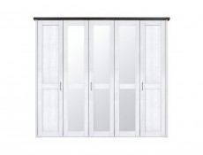 Five Door Wardrobe - Luca