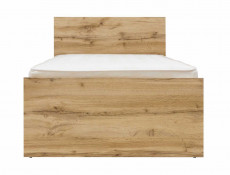 Modern Single Bed Frame Headboard Slats Underbed Storage Drawer Oak effect - Zele