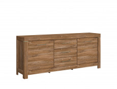 Extra Large Sideboard Dresser Cabinet Oak effect Contemporary - Gent (S228-KOM2D3S/9/20-DAST-KPL01)