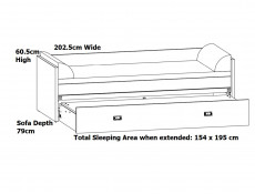 Urban Convertible Sofa Bed King Size Bed Daybed Frame Mattress with Lift Up Storage - Malcolm (S325-LOZ/80/160-DAMO/DAMON-SET)