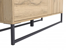 Industrial Large Sideboard Dresser Cabinet Unit with Drawers Oak finish - Gamla (L79-KOM1D3S-GOK-KPL01)
