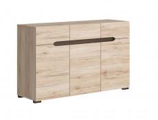 Modern Large Sideboard Dresser Cabinet with Doors and Drawers in Light Oak Effect finish - Elpasso (S314-KOM3D3S-DSAJ/DWB-KPL02)