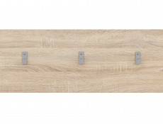 Coat Hooks Hallway Entrance Hall White or Sonoma Oak Finish- Nepo