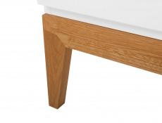 Living Room 3-Piece Furniture Set Storage Units Wood White Gloss Oak - Kioto (S425-LIVING ROOM SET)
