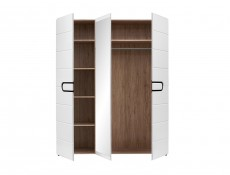 Three Door Wardrobe - Byron (S220-SZF2D1L/21/17-BIP/DSAJ-KPL01)