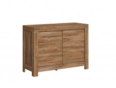 Small Oak effect Cabinet Square Modern Sideboard - Gent