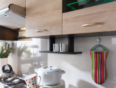 Kitchen Display Shelf 100cm Under Wall Units - Wenge - Junona ( K22-POL/100-WE-KPL01)