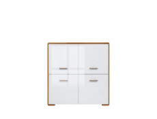 White Gloss and Oak Living Room Furniture Set 1 - Bari (BARI LIV SET1)