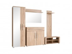 Point  - Single Mirror Door Wardrobe