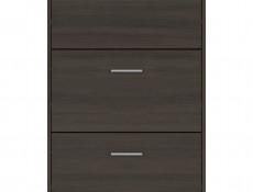 Triple Door Shoe Cabinet Slimline Storage Wenge, White or Sonoma Oak Finish- Nepo