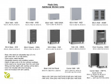 Free Standing Light Grey Kitchen Sink Cabinet Cupboard Unit 80cm - Paula
