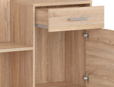 Hallway Stand Entrance Hall Cabinet Shoe Storage Set Sonoma Oak Effect Finish - Nepo
