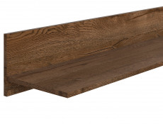Modern Minimalist Style Floating Wall Shelf in Dark Oak Finish - Ruso