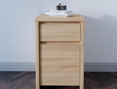 Modern Small Cabinet Storage Drawer Oak - Kaspian (S128-KOM1D1SP-DSO/DSO-KPL01)