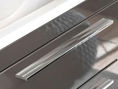 Modern Wall Hung Bathroom Cabinet Storage Unit Grey Matt/Grey Gloss - Twist