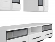 Living Room Furniture Set 1 in White Gloss or Oak - Fever (S182-FEVER1-BIP/CA-KPL01)